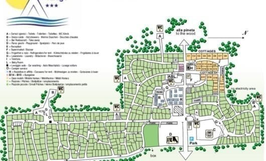 Plattegrond Camping International Piomboni