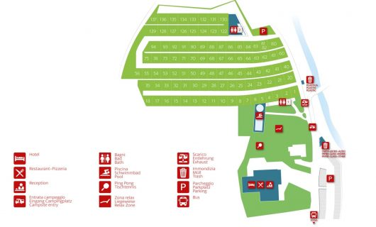 plattegrond Camping Hermitage